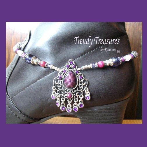 Boot Bracelet, Purple Vintage Style, Boot Bling, #TrendyTreasuresByRamona