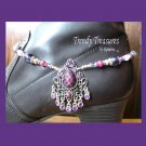 Boot Bracelet, Purple Vintage Style, Boot Bling, #TrendyTreasuresByRamona