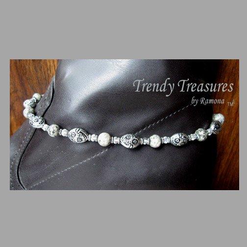 Gray Gemstone Boot Bracelet, Boot Bling, #TrendyTreasuresByRamona