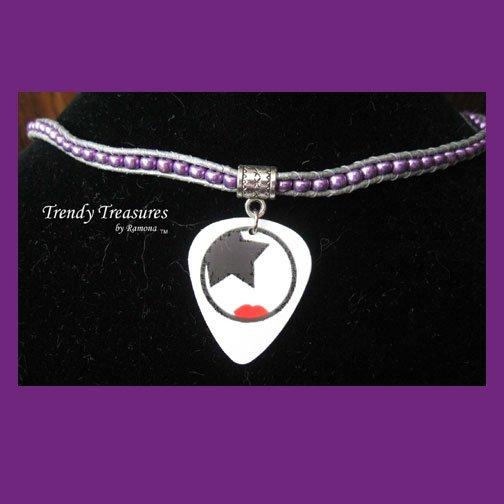 New Style, KISS Guitar Pick Necklace, Paul Stanley, Artisan, #TrendyTreasuresByRamona