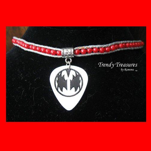 New Style, KISS Guitar Pick Necklace, Gene Simmons, Artisan, #TrendyTreasuresByRamona