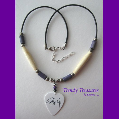 KISS Guitar Pick Necklace Paul Stanley Artisan Design, #TrendyTreasuresByRamona