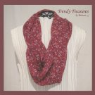 Infinity Scarf, Handmade, Beautiful Marsala,Pantone Color, 2015, Sheer & Soft