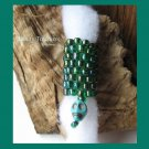 Iridescent Green, Skull Charm Dangle, Dreadlock Sleeve, Dread Bead, #TrendyTreasuresByRamona