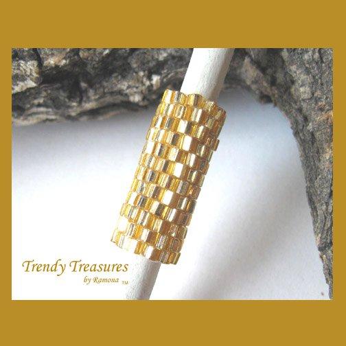 Sparkling Gold Dreadlock Sleeve, Dread Bead, #TrendyTreasuresByRamona
