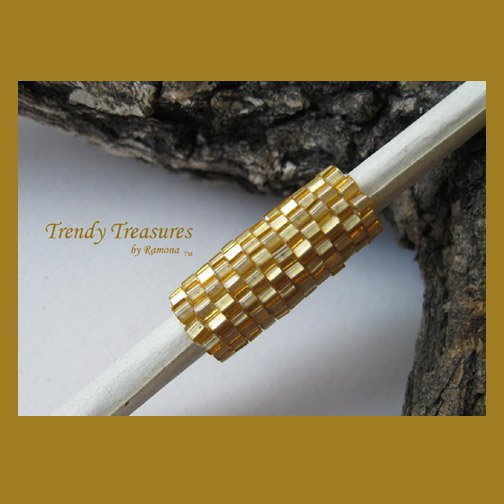 Matte Gold Dreadlock Sleeve, Dread Bead, #TrendyTreasuresByRamona