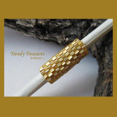 Matte Gold Dreadlock Sleeve, Dread Bead, #TrendyTreasuresByRamona