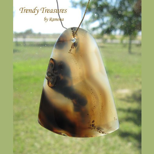 Piranha Agate Teardrop Pendant,Artisan Crafted,Make Necklace,#TrendyTreasuresByRamona