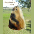 Piranha Agate Teardrop Pendant,Artisan Crafted,Make Necklace,#TrendyTreasuresByRamona