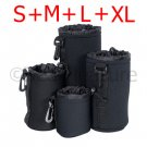 4pics Soft Neoprene Lens Pouch Case S+M+L+XL Set