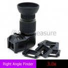 Seagull 1-3.0X Right Angle Finder Viewfinder for Digital SLR Camera Canon Nikon Pentax