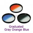 52mm Graduated Color Gray/Orange/Blue Filter Kit (3 Pics)