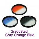 82mm Graduated Color Filter Kit Gray/Orange/Blue 3 Pics