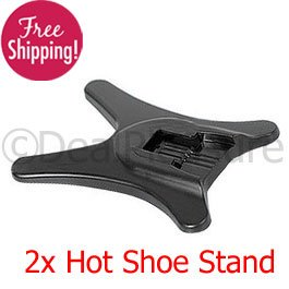 2x Flash Hot Shoe Stand for Camera Canon Nikon Pentax Sigma 2Pics