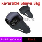 Reversible Neoprene D-SLR Camera Sleeve Bag Pouch Case L for Nikon D7000 18-105mm Lens