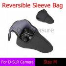 Reversible Neoprene D-SLR Camera Sleeve Bag Pouch Case M for Canon Nikon Pentax Sony