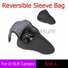 Reversible Neoprene D-SLR Camera Sleeve Bag Pouch Case L for Canon Nikon Sony
