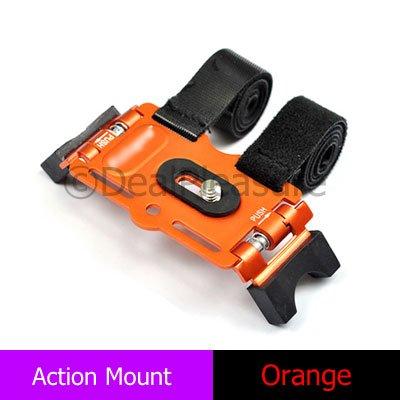 Flip Action Mount for Slim Digital Camera Video Mino Camcorder DV Orange