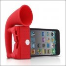 Horn Stand Amplifier Speaker for Apple iPhone 4 -Cute-Red