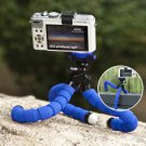 "Flexible Gripping Mini Tripod 1/4"" Tripod Bolt for Sony Canon Nikon M 1/4 - Color Blue"