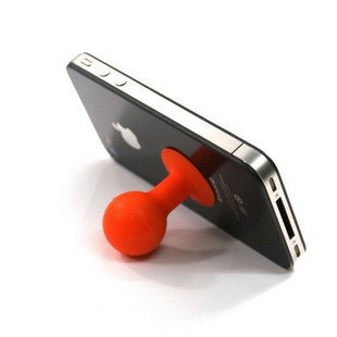 Small Rubber Desk Stand iStand for iPod, iPhone and Smart Cell Phone