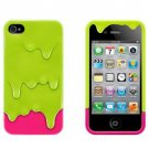 IPHONE Melt The Ice Cream Phone Protective Cover Green for IPHONE 4 4S