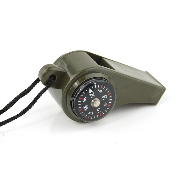 SUPER WHISTLE WITH COMPASS & THERMOMETER MILITARY ARMY