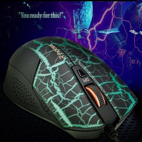 Legend High Bluray Gaming Mouse with 4 Shifting Speed Green