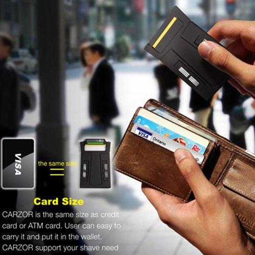 Portable Credit Card Size Razor 3 Blades Man Travel Trip Office Using