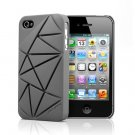 COIN 4 Snap Case Cover for Apple iPhone 4 / 4S (Gray)
