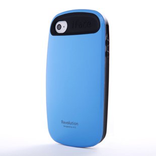 iFace 2 Generation TPU Case Cover for Apple iPhone 4 4G 4S (Blue)