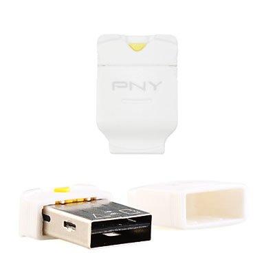 PNY Phone Baby Micro SD SDHC TF Memory USB 2.0 Mini Card Reader Adapter (White)