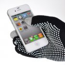 Smartphone iPhone 5/4S/4 Touch Screen Gloves One Pair in Black Unisex