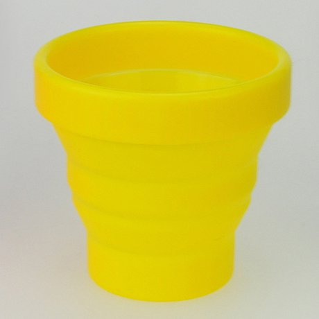 Portable Silicon Telescopic Drink Cup Foldable for Home Outdoor Sports Walking - Yellow