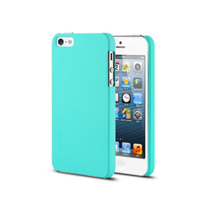Spray Color Soft Case for iPhone 5 5G Slim Protective Shell Cover - Blue