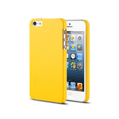 Spray Color Soft Case for iPhone 5 5G Slim Protective Shell Cover - Yellow