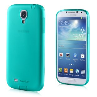 Transparent Color Case for Samsung S4 I9500 Slim Protective Shell Cover + Dust Proof - Green