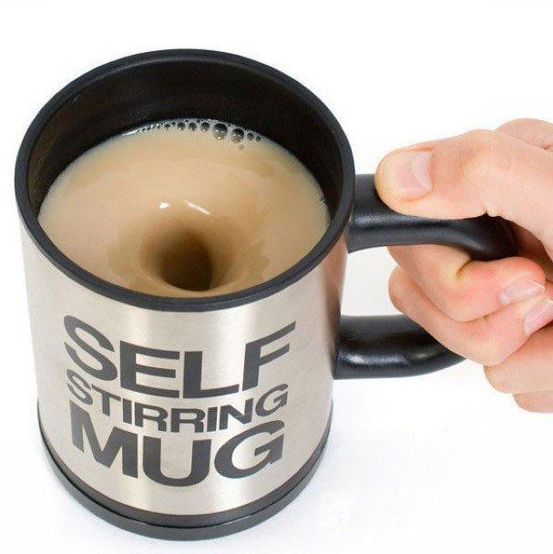 Self Stirring Mug Coffee Tea Cup Auto Mixing Lazy Creative Gadget Gift
