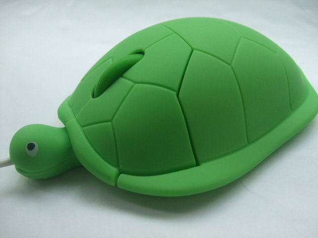 Tortoise Shaped Wired Optical Mouse-Green