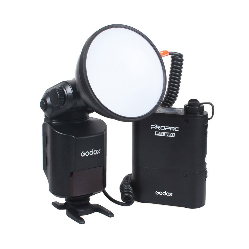 Godox Witstro AD360 AD-360 Bare Tube Outdoor Flash Speedlite + PB960 Battery Power Pack (Black)