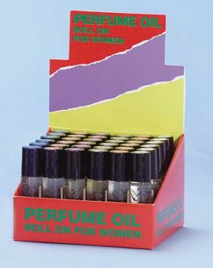 Lady's Perfume Oil Roll On Display 36ct