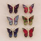 Brass Butterfly Pins 24ct
