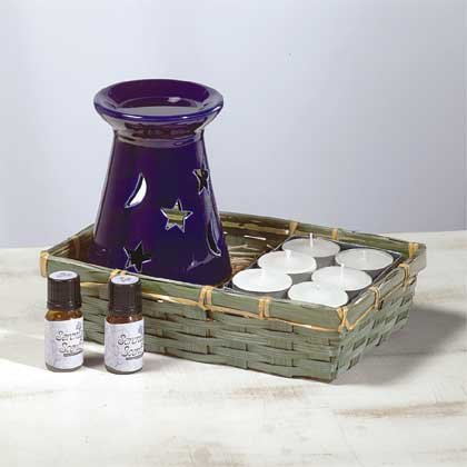 Ceramic Oil Burner - Star & Moon 1ct