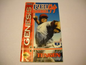 Instruction booklet manual for R.B.I. Baseball '94   Sega Genesis