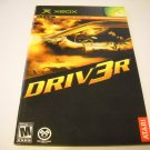 Manual ONLY ~  for Driv3r , Driver 3   Xbox