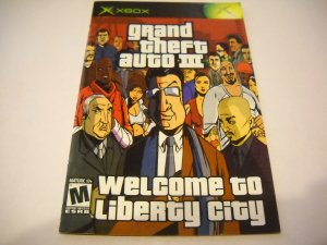 Manual ONLY ~  for Grand Theft Auto III 3   Xbox