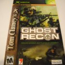 Manual ONLY ~  for Tom Clacy&#39;s Ghost Recon   Xbox