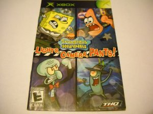 Manual ONLY ~  for SpongeBob Squarepants Lights, Camera, Pants   Xbox