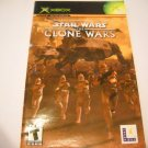 Manual ONLY ~  for Star Wars The Clone Wars   Xbox