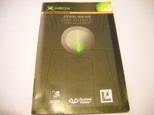 Manual ONLY ~ Star Wars Jedi Knight Jedi Academy - Booklet Xbox